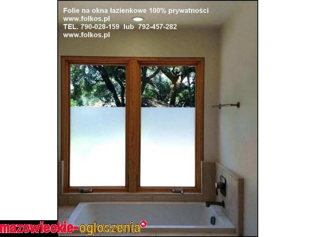 Oklejanie szyb Mińsk Mazowiecki ...Folie na okna łazienkowe, drzwi,przeszklenia
